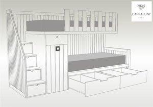 Canballini dormitorios y literas infantiles y juveniles - Escaleras para literas infantiles ...